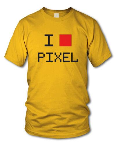 versch Nerd Funshirt Farben S-XXL Gaming Geek I LOVE PIXEL Kult T-Shirt