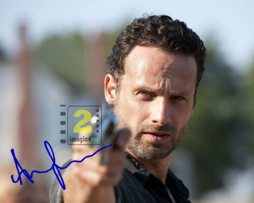 "Andrew Lincoln 10""x 8"" Signed Color PHOTO REPRINT"