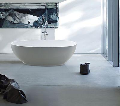 GETTARO weiß 180 x 90 - freistehende Acryl Badewanne Wanne inkl. Ab- / Überlauf