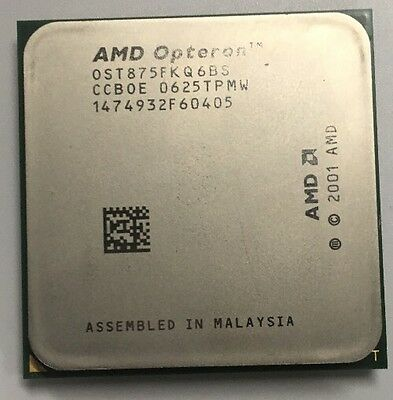 OST875FKQ6BS AMD 2.2GHz Dual Core Opteron 875 Microprocessor