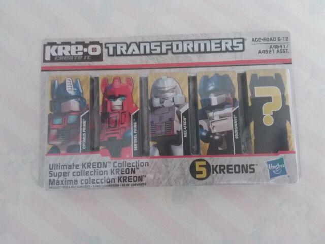 Transformers Kre-o 5 pack MOC 2012 Optimus Prime Megatron Soundwave + 2 more