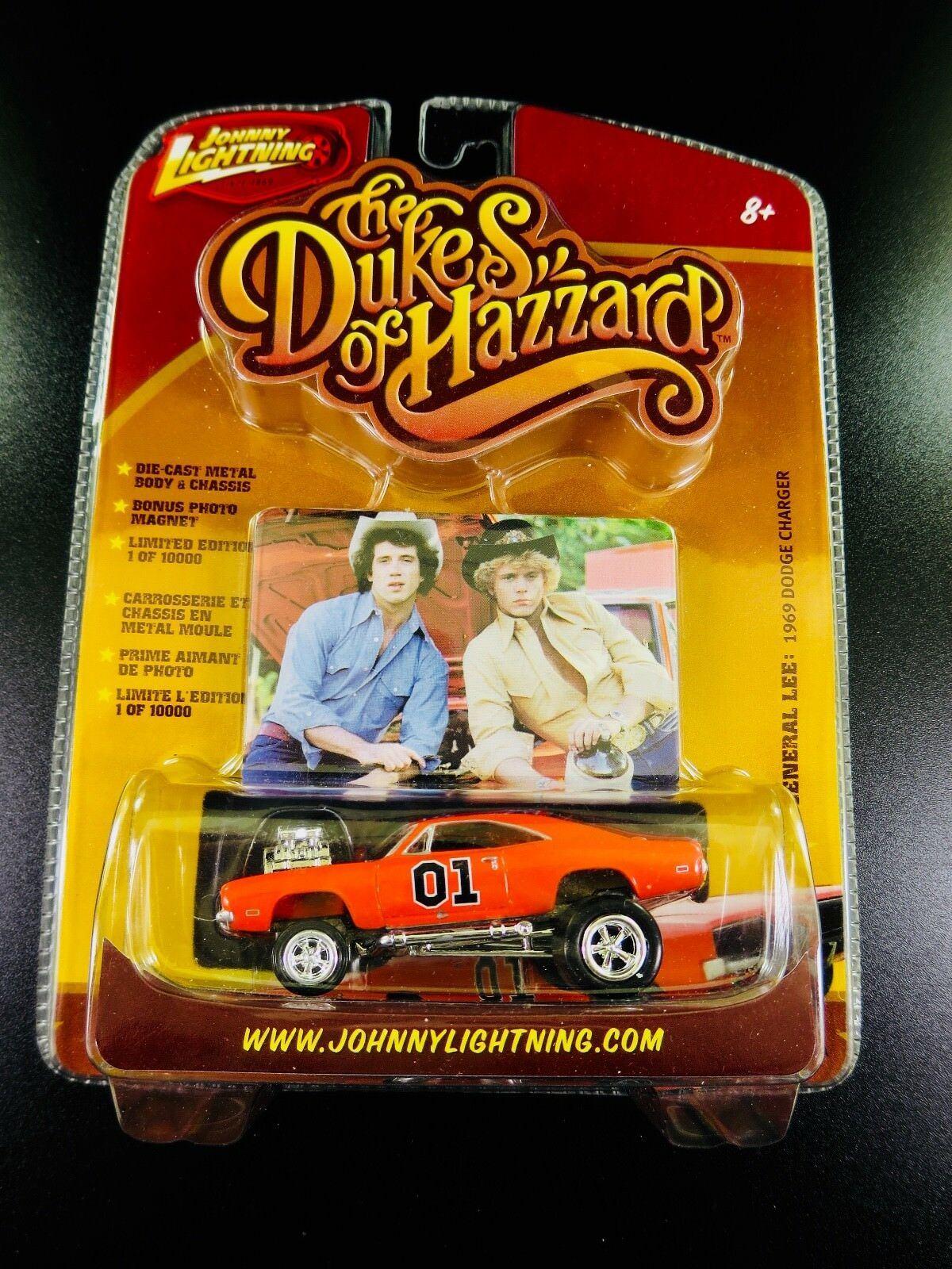 Johnny lumièrening Dukes of Hazzard  General Lee 1969 Sale Dodge Chargeur 1 64  exclusif
