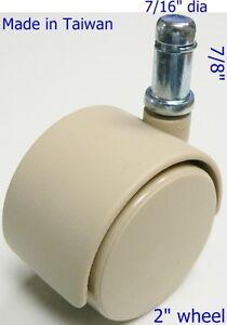 "hardwood floor 5 pcs 7//16/"" x 7//8/"" grip ring Oajen 2/"" soft wheel chair caster"