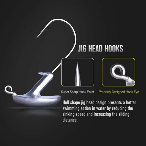 Stand Up Lead Jig Heads 3.5g 5g 7g 10g 14g Fishing Hooks Trout Salmon