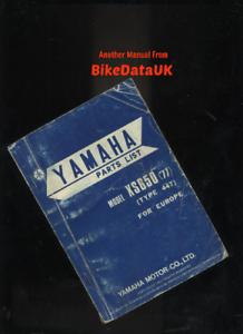 Yamaha-XS650-1977-gt-Factory-Parts-List-Catalog-Book-Manual-XS-650-447-1U3-BR74