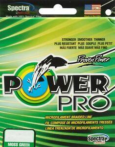 POWER PRO BRAIDED LINE POWERPRO GREEN MOSS 15LB-300YD