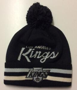 8e70963f199 Los Angeles Kings LA Adidas NHL Knit Hat Beanie Stocking Cap Vintage ...