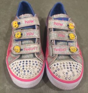 5f2dfec37940 Image is loading Skechers-Kids-Twinkle-Toes-Expressionista-Sneakers-Tennis- Shoes-