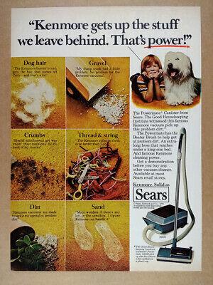 1978 Sears Kenmore Powermate Canister Vacuum Cleaner vintage print Ad | eBay