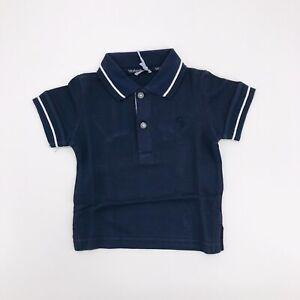 Polo-Blu-in-tinta-unita-Neonato-Sarabanda-E821