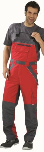 2527 Planam plaline Dungarees Work Pants Red Slate reflexbiesen Scotchlite