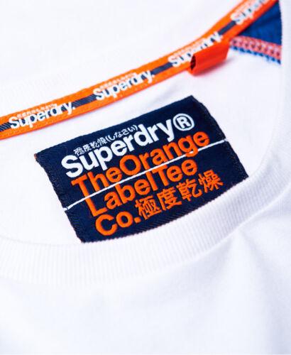 Baseball Sleeve shirt T Crew White England Label Short Neck Superdry Orange C6nqTwqO