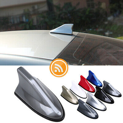 White Universal Car SUV Radio AM//FM Shark Fin Antenna Decor Roof Aerial For Kia