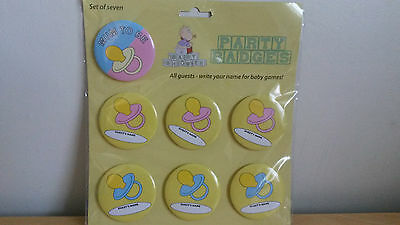 Baby Shower Party Name Badges
