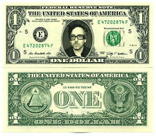 TIM BURTON - VRAI BILLET de 1 DOLLAR US ! Collection Cinéma Fantastique USA
