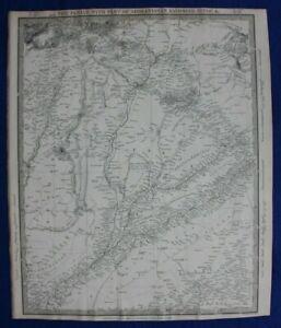PUNJAB-INDIA-KASHMIR-PAKISTAN-original-antique-map-SDUK-1844