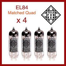 Telefunken Black Diamond EL84 Power Vacuum Tube - Matched Quad - 4 Pieces