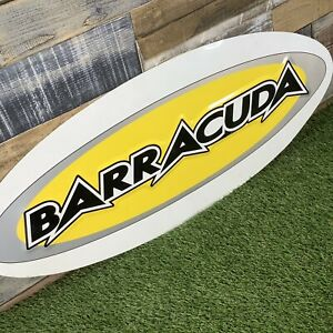 Retro-30-BARRACUDA-Mountain-Bikes-Metal-Sign-VTG-Bicycle-Advertising-Board
