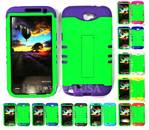 KoolKase-Hybrid-Silicone-Cover-Case-for-Samsung-Galaxy-Note-2-Lime-Green-FL