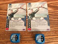 Star Wars Destiny Spirit of Rebellion HANDCRAFTED LIGHT BOW near mint card /& die