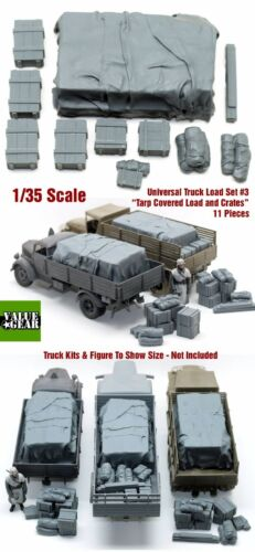 1//35 Universal//Generic Truck Load Set #3 TarpCovered Crates Value Gear