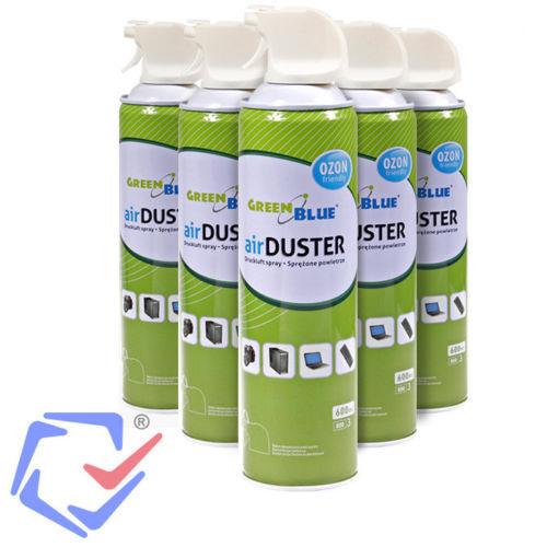 VertBleu ozone air air air comprimé spray pour nettoyage ordinateurs 400ml ou 600ml 64562d