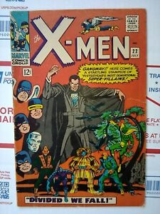 X-men-1966-22-MANY-NEW-ENTRANCES-NICE-Marvel-Comic-xmen-x-men-22-JULY-1966