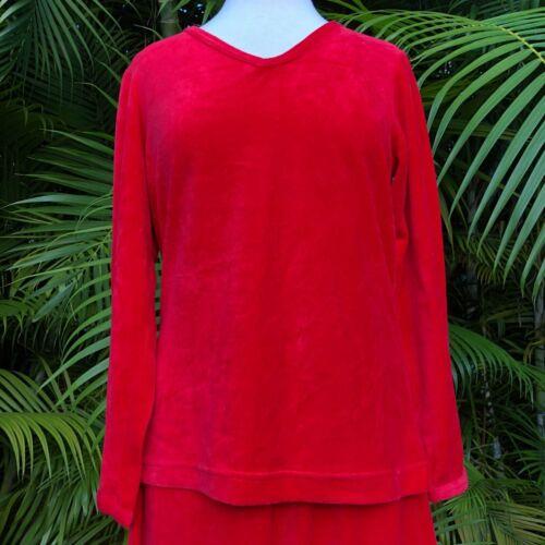 Lounge set / pajama set cherry red velour size Me