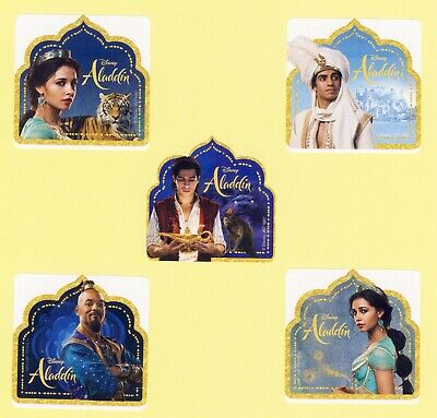 Genie Disney Princess Jasmine 15 Aladdin Shaped Large Stickers