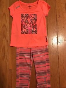 Reebok Girls Size 4t Outfit In Vgc Good For Energy And The Spleen Girls' Clothing (newborn-5t) Outfits & Sets