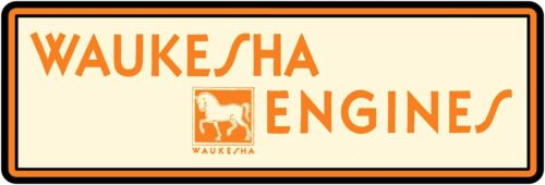 """Waukesha Engines Marquee Style New Metal Sign 6/"""" x 18/"""" Long Ships Free"""