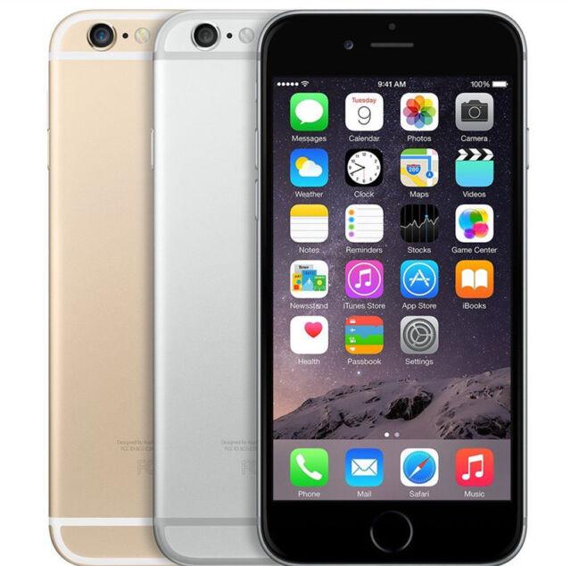 Apple iPhone 6 - (UNLOCKED) | Gray Gold Silver | 16GB 64GB 128GB GSM + CDMA