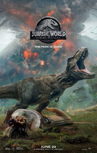 """Fallen Kingdom Movie Poster Print 13x20/"""" 20x30/"""" 24x36/"""" 27x40/"""" Jurassic World"""