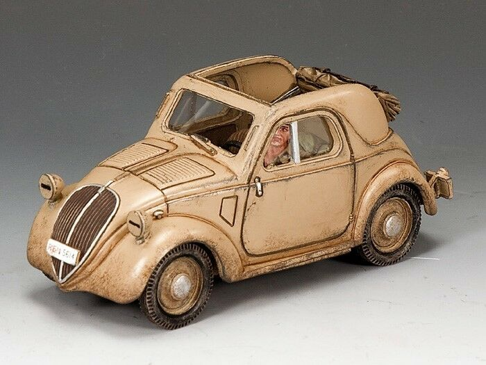 King & Country Soldiers WWII Fiat Mod 500A Topolino 1 30 Scale Collectible IF023