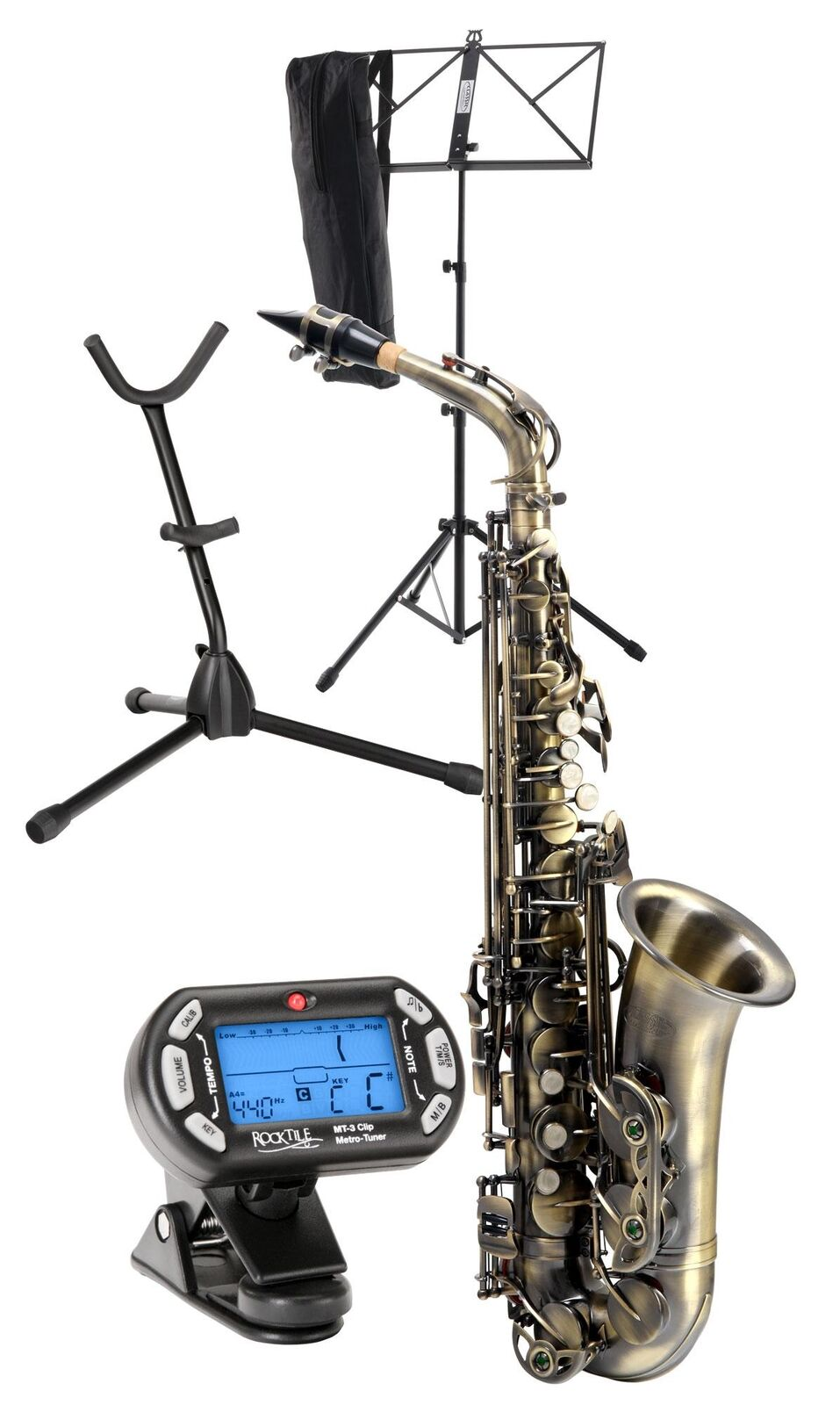 Saxophone Woodwind Instrument Set Support Instrument Music Stand Metronome Tuner