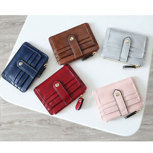 f6576e45b4dd Details about Women Girl Mini ID Credit Card Holder Coin Purse Wallet  Pockets Slim Wallet Case