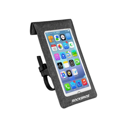 RockBros Waterproof Phone Bag Bicycle Handlebar Head Tube Touch Screen Black