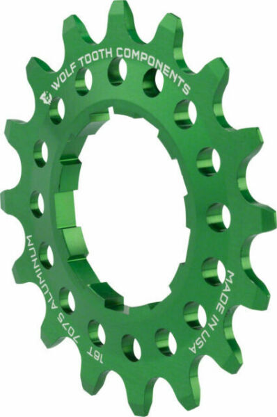 Wolf Tooth Components Single Speed Aluminum Cog 16T Compatible with 3//32