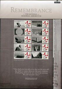 Grossbritannien-2010-Remembrance-Militaer-Denkmal-Kleinbogen-MNH