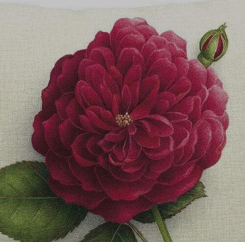 Kissenhülle Kissenbezug Motivkissen floral Rose Canvas-Stoff