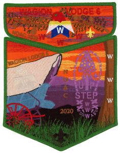 Boy-Scout-Order-of-the-Arrow-Wagion-Lodge-6-OA-Uniform-Flap-NOAC-2020-Patch-Set