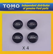 Genuine Ford Fiesta,Focus,C-Max,KA,Kuga,S-Max Blue Alloy Wheel Centre Cap x 4