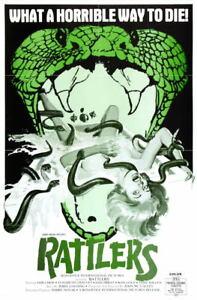 G5158 Rattlers Elisabeth Chauvet Movie VHS Vintage Laminated Poster FR