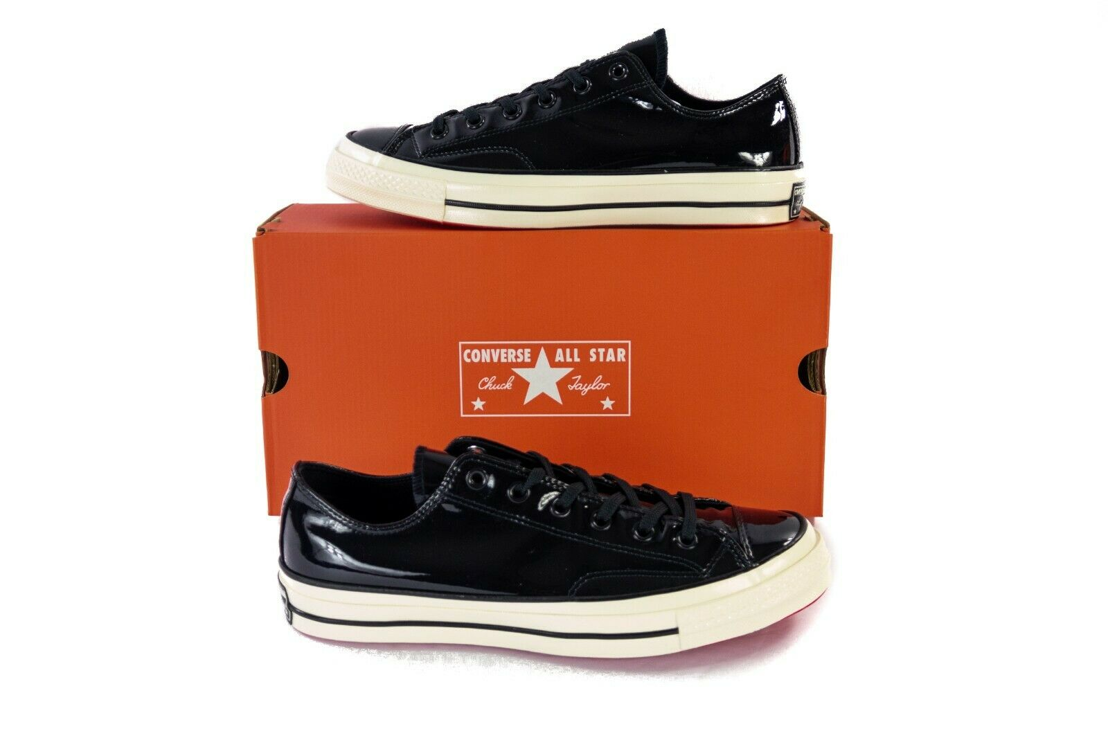 Converse Converse Converse Chuck Taylor All Star 70 1970s Patent Leather nero Low scarpe 162438C 10d577
