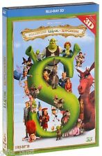 NEW 5 Blu-ray Shrek 3D: Whole Story Russian English Spanish Portuguese French ++