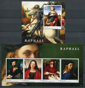 Palau-2012-Raffael-Gemaelde-Paintings-Kunst-Art-Satz-Block-Postfrisch-MNH