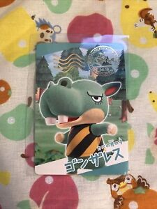 Rare Authentic Rocco Nintendo Animal Crossing New Horizons Collectible Card