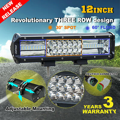 12inch 270W Philips LED Light Bar Spot Flood Combo Offroad Work Driving 4WD