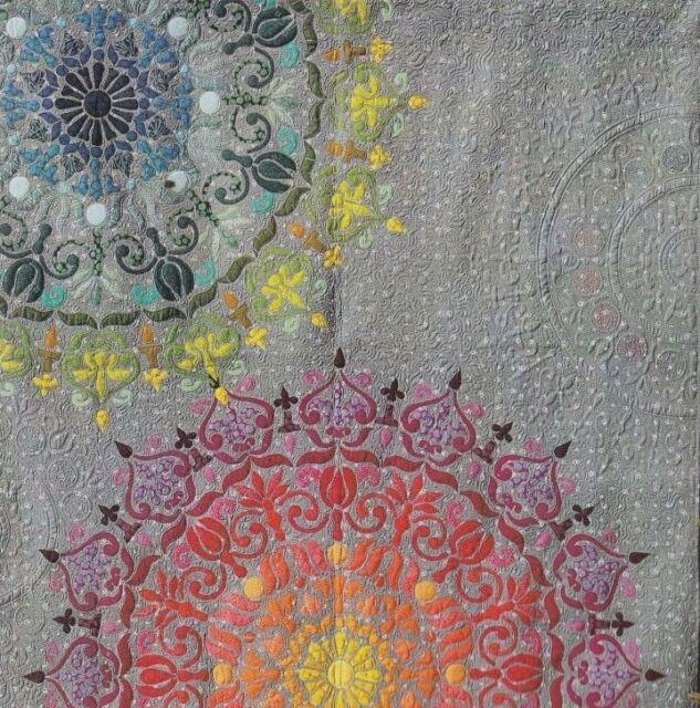 Mandalicious - beautiful applique quilt PATTERN - Free Bird Designs
