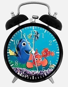 """Disney Finding Dory Alarm Desk Clock 3.75"""" Home Office Decor E327 Nice For Gift"""